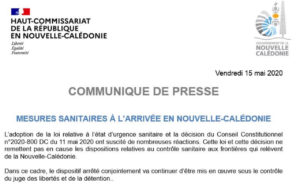<b> État d'urgence sanitaire et conflit de souveraineté en Nouvelle-Calédonie </b> </br> </br> Par Mathias Chauchat